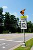 A Solar Powered Radar School Speed Limit Sign