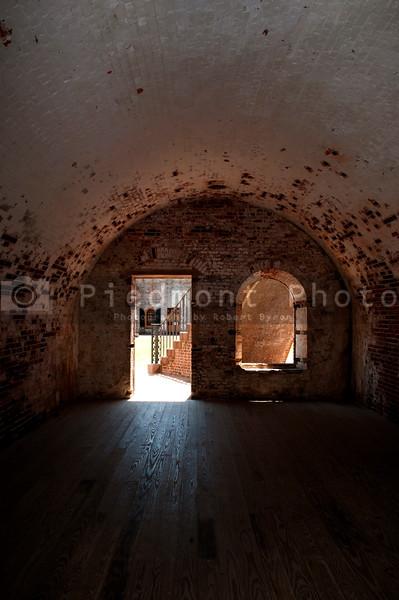 The Fort Macon Civil War museum in North Carolina