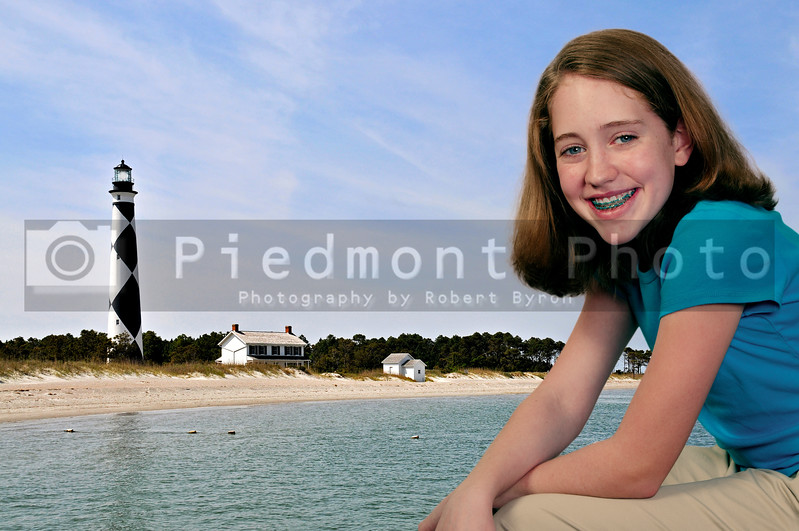 The Cape Lookout Lighthouse on the North Carolina Coast
