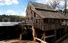 An old grist mill on a river