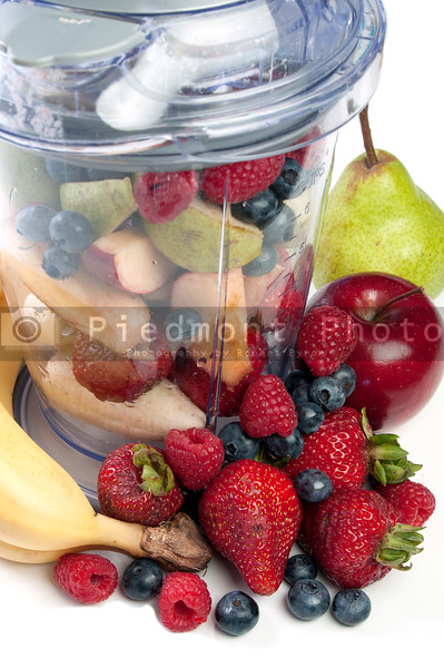 A delicious cold Fruit Smoothie or daiquiri in a blender