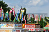 A variety of carnival food vendors on the midway