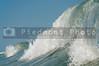 The crashing salt water waves of the ocea