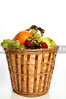 A delicious fruit basket loaded with various goodies