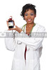 An woman doctor holding a bottle of prescription medication