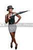 A beautiful young black African American actress dancer wearing a top hat