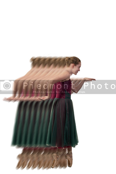 A young teenage girl dancing a ballet