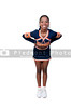 A young teenage black african American cheerleader