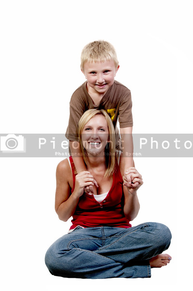 A beautiful mother and her adorable son