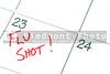 A calendar reminder for a Flu Shot