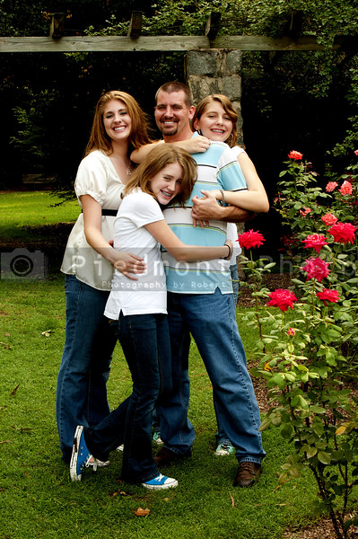 A father and his lovely teenage daughters
