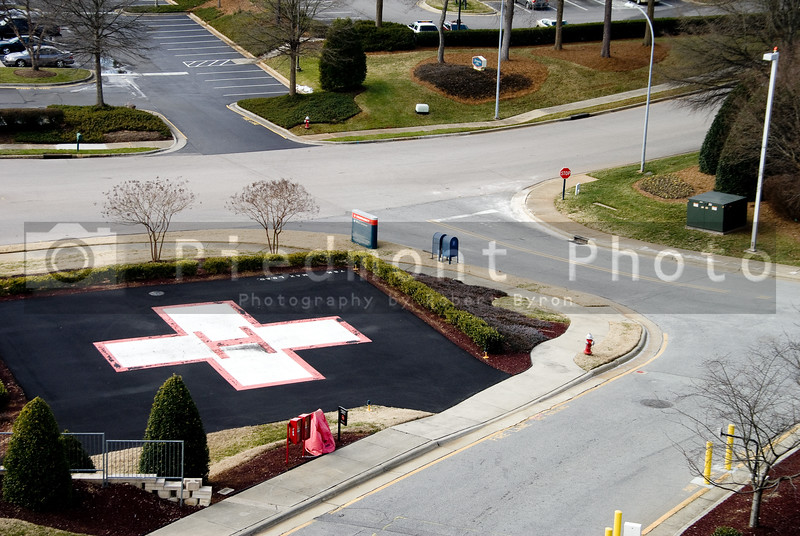 A Hospital Helipad at a medical trauma center