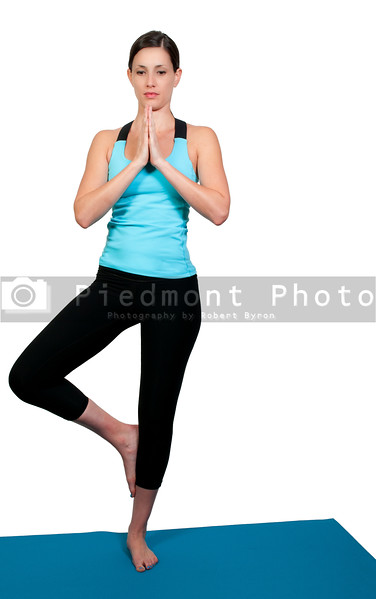 A beautiful woman doing her Yoga stance execises