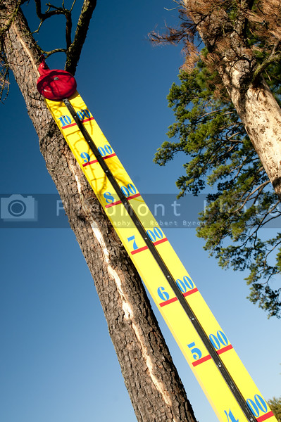 A carnival game at a county fair