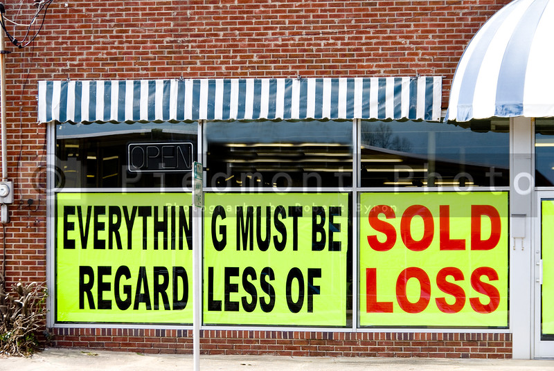 A store having a going out of business sale