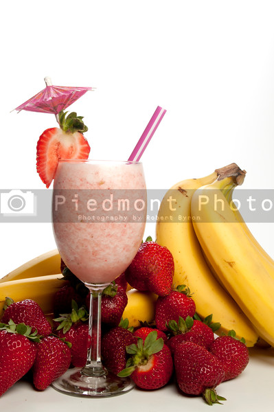 A delicious Strawberry Banana Smoothie or daiquiri