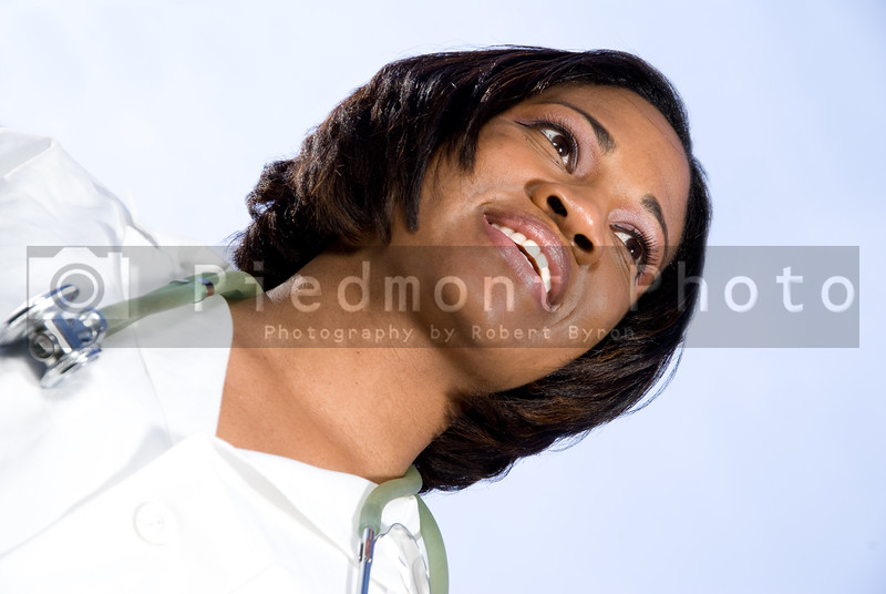 A happy and smiling African American doctor