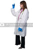 A beautiful young female doctor holding a test tube vial sample of blood