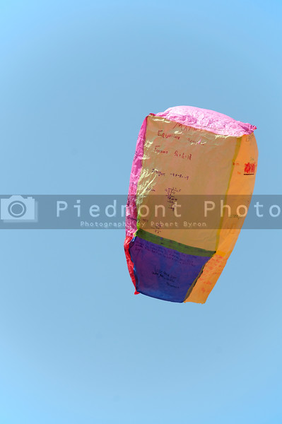 A hot air balloon made out of tissue paper