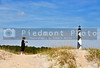 The Cape Lookout Lighthouse on the North Carolina Coast