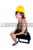 An Asian Female Construction Worker on a job site.