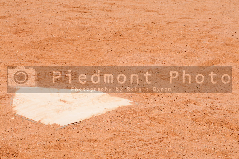 The home plate on a baseball field