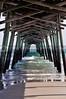 The underside of an ocean Fishing Pier