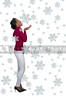 Black Woman Catching Snowflakes on Her Tongue