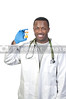 Black man African American holding a prescription medication pill bottle
