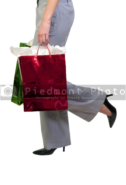 A beautiful young woman on a shopping spree