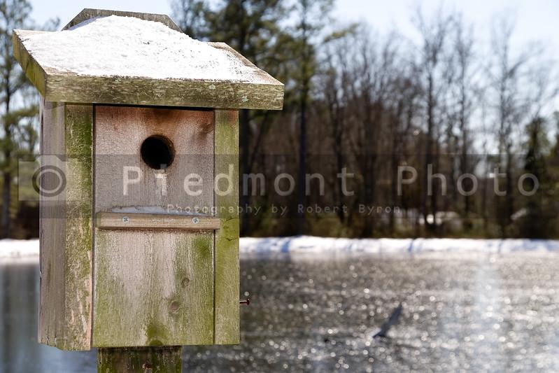 Snowy Birdhouse
