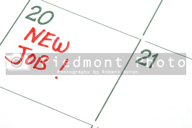 A calendar entry reminding of a New Job