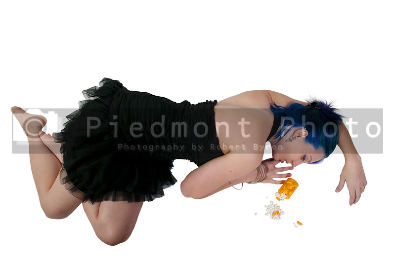 A beautiful woman drug addict whao has become a victim of ovedose