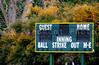 A Baseball Scoreboard at a local league field