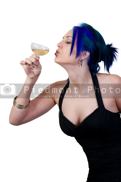 Women drinking the adult beverage known as champagne