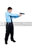 A police detective man on the job with a gun