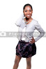 A very beautiful African American black woman teenager with a big smile