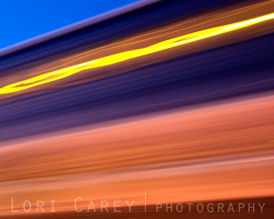 The Surfliner at twilight, San Clemente, California