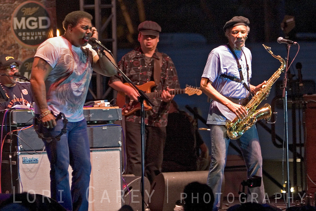 The Neville Brothers performing at the Doheny Blues Festival in Dana Point, California May 2005
