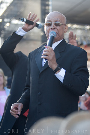 Jimmy Carter of the Blind Boys of Alabama performing at the Doheny Blues Festival in Dana Point, California on May 21, 2005