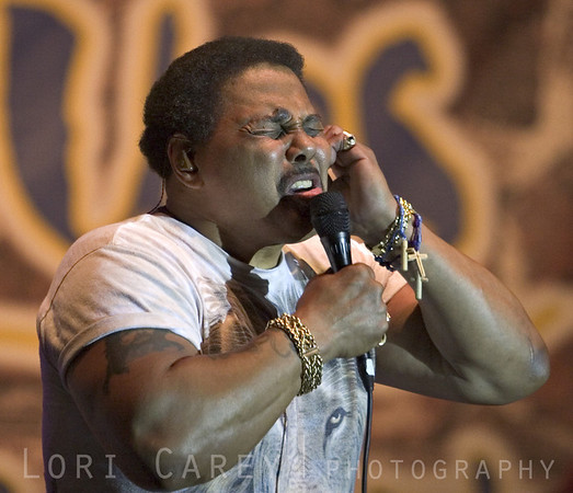 Aaron Neville of the Neville Brothers performing at the 2005 Doheny Blues Festival in Dana Point, California