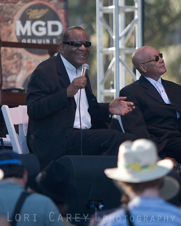 Clarence Fountain and Jimmy Carter of the Blind Boys of Alabama at the Doheny Blues Festival in Dana Point, California on May 21, 2005.