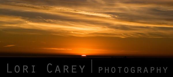 Sunrise over the Salton Sea