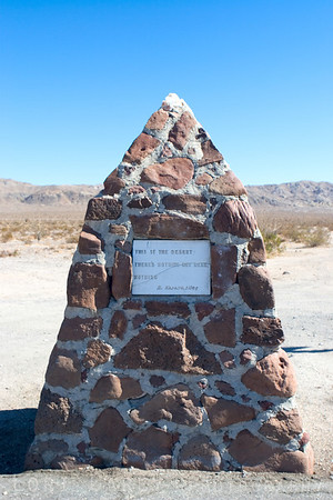 "My favorite piece of desert art, this monument is along S2 near a border control check point. It says ""This is the desert. There's nothing here. Nothing.""<br /> <br /> Well, my adventure proved that wrong; you just have to know where to look."