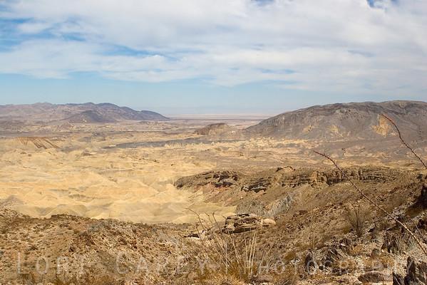 The Carrizo Badlands.