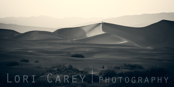 Photographers at Mesquite Flats Sand Dunes in Death Valley National Park, California