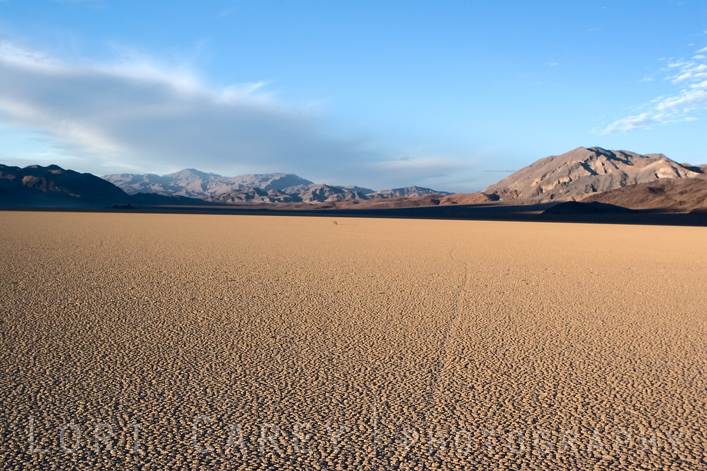 The Racetrack Playa in Death Valley National Park.