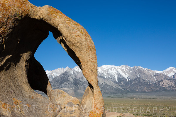 Mt. Whitney through Cyclops Double Arch, Alabama Hills