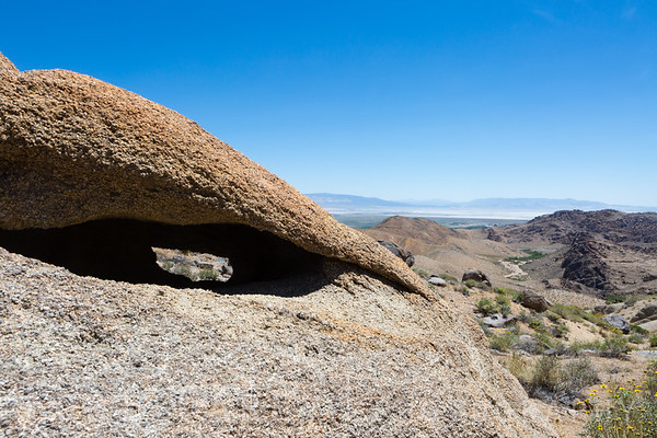 Unknown arch overlooking Owens Valley, Alabama Hills, California