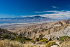 Mt. San Jacinto, Palm Springs and the San Andreas Fault Line as seen from Keys View in Joshua Tree National Park, California.
